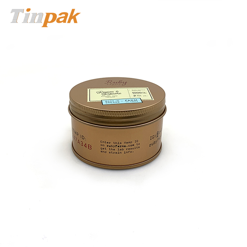 Round screw lid hemp weeds packaging tin cans