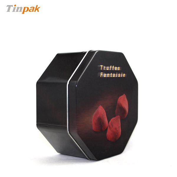 Octagonal Chocolate Gift Tin Box Wholesale