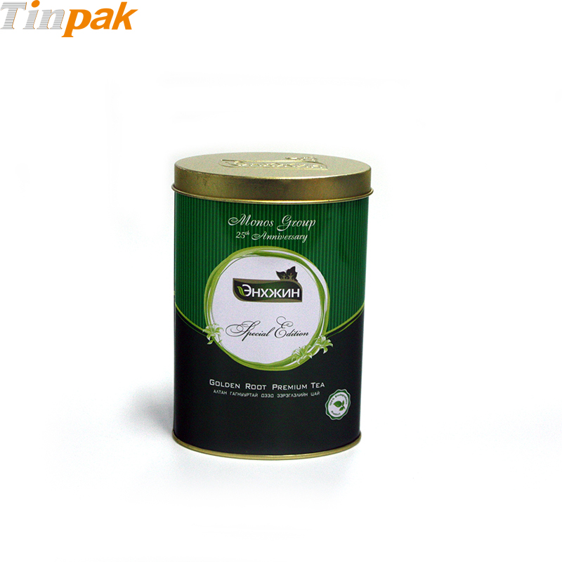 Custom Printing Oval Tea Tin Case with Logo Emboss