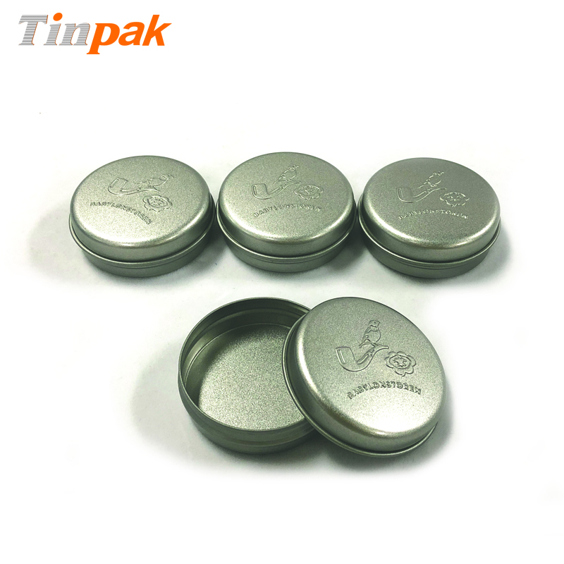Recyclable Round Metal Tin Containers for Lip Balm packing